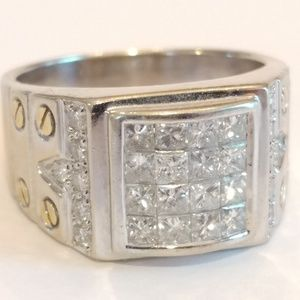 Other - Stunning 18k 750 Solid Gold & Diamond Cluster Ring